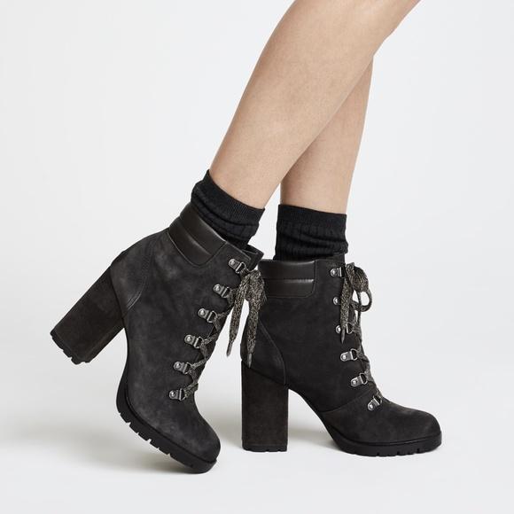 138e681f2 Sam Edelman Carolena Suede Asphalt Ankle Boot NIB